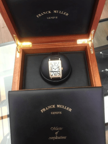 Franck Muller Long Island 1002 QZ D 18K Rose Gold & Diamond