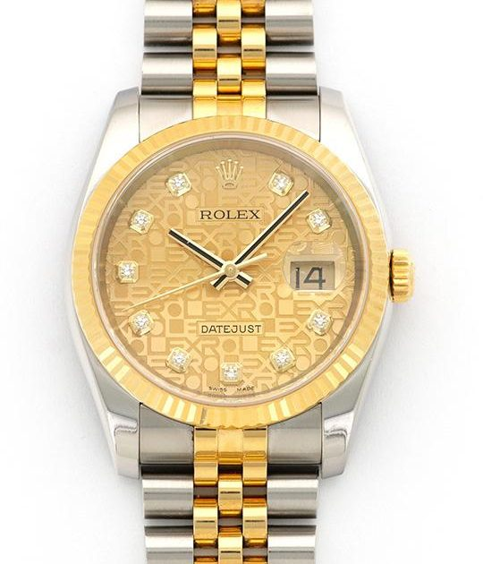 Rolex Datejust 36 mm.Jubile Diamond Dial