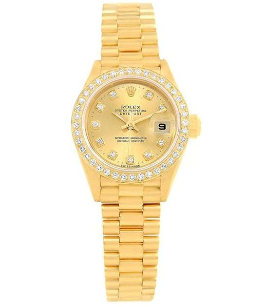 Rolex Lady-Datejust 26 mm. Diamond Bezel & Dial