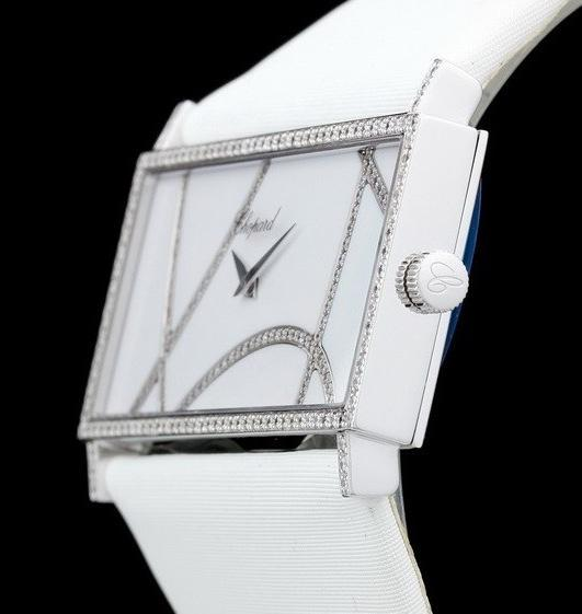 Chopard Rectangle 13/9130 Diamond 18K White Gold