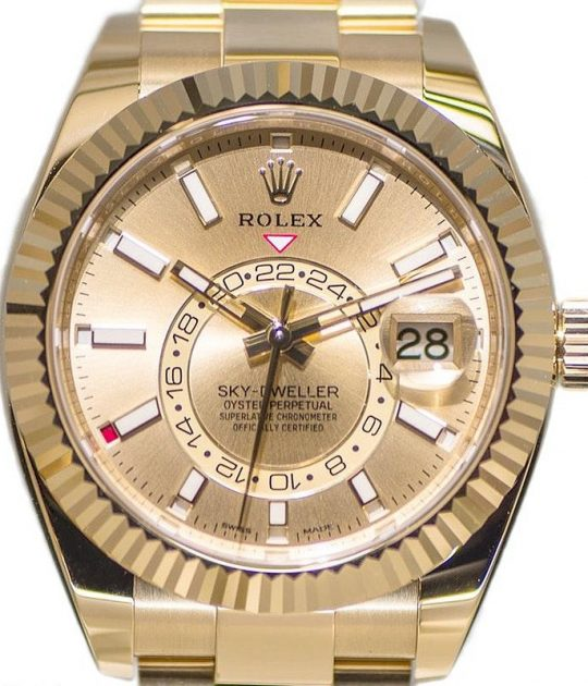 Rolex Sky-Dweller 18k Yellow Gold