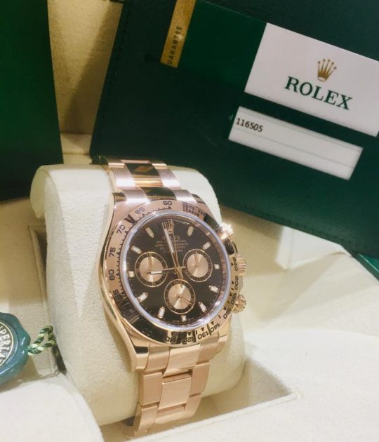 ROLEX DAYTONA ROSE GOLD 116505