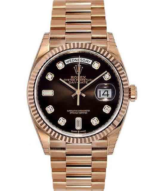 Rolex Day-Date 36 Chocolate Dial with Stickers