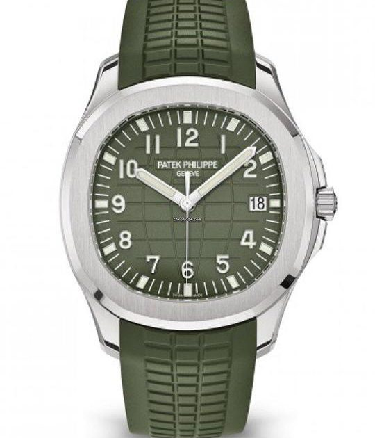 PATEK PHILIPPE AQUANAUT GREEN DIAL WHITE GOLD